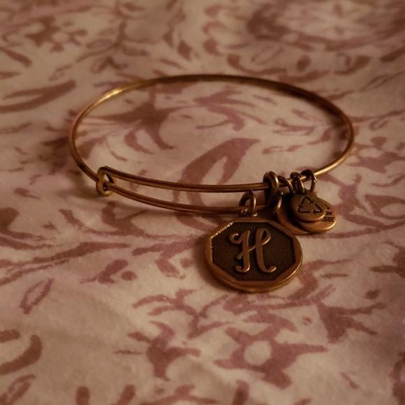 Alex and Ani Jewelry - Alex and Ani H initial bracelet